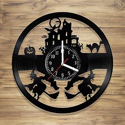 Amazon Com Decorart Studio Halloween Vinyl Wall Clock Vinyl Clock