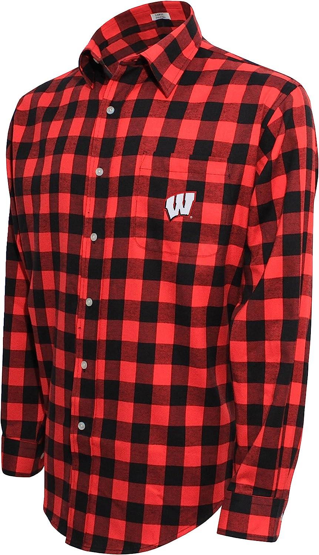 Crable NCAA Mens NCAA Mens Campus Specialties Ls Flannel Buffalo Check Shirt