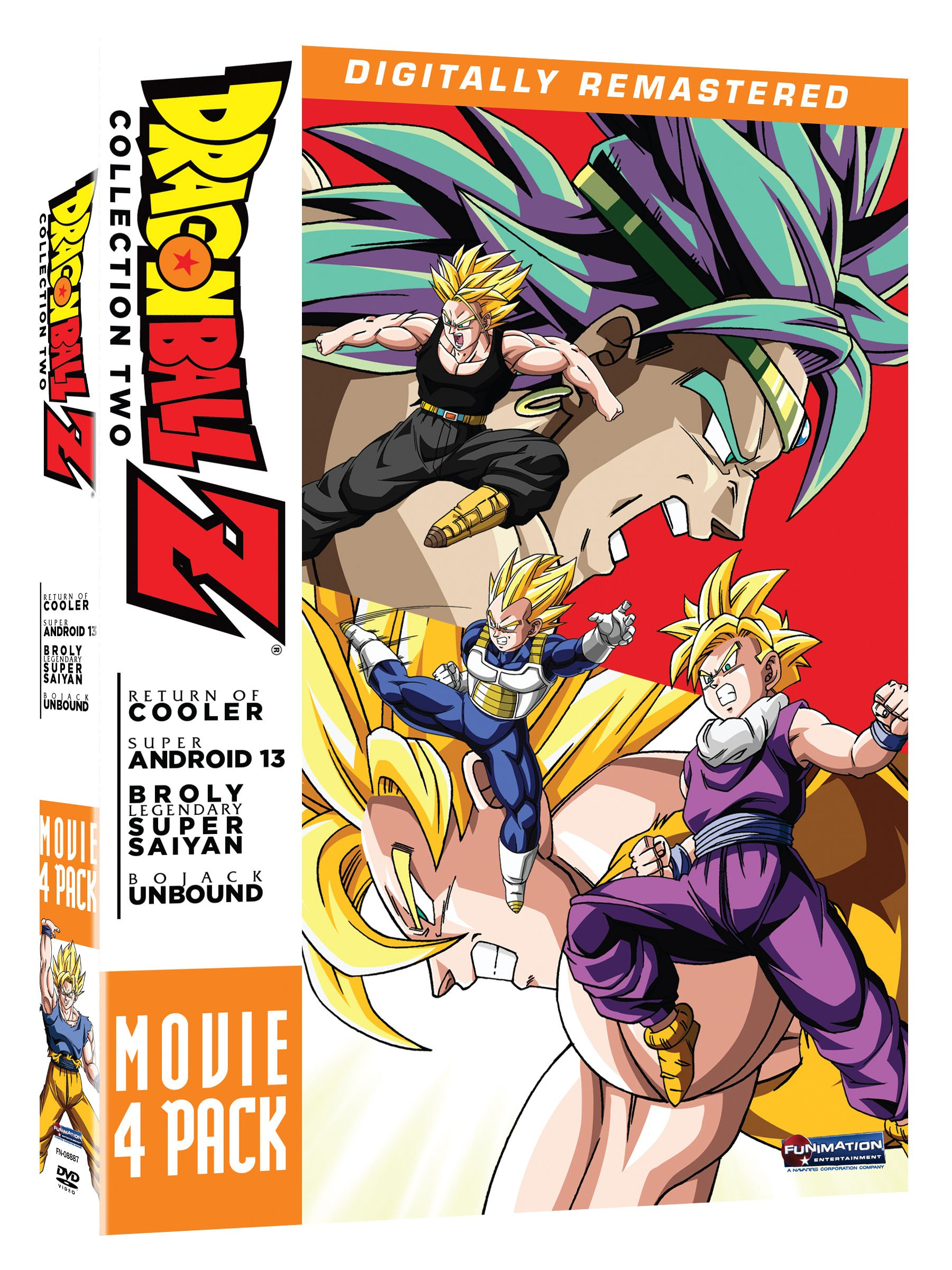 DVD : Dragon Ball Z: Movie Pack 2 (Boxed Set, 4 Disc)