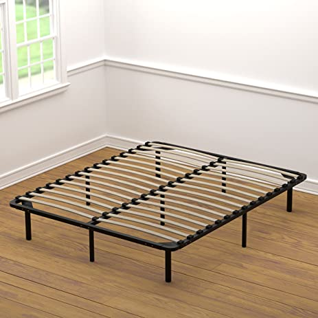 Amazoncom Handy Living Wood Slat Bed Frame Queen Kitchen Dining