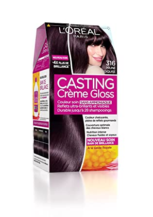Coloration cheveux prune exquise