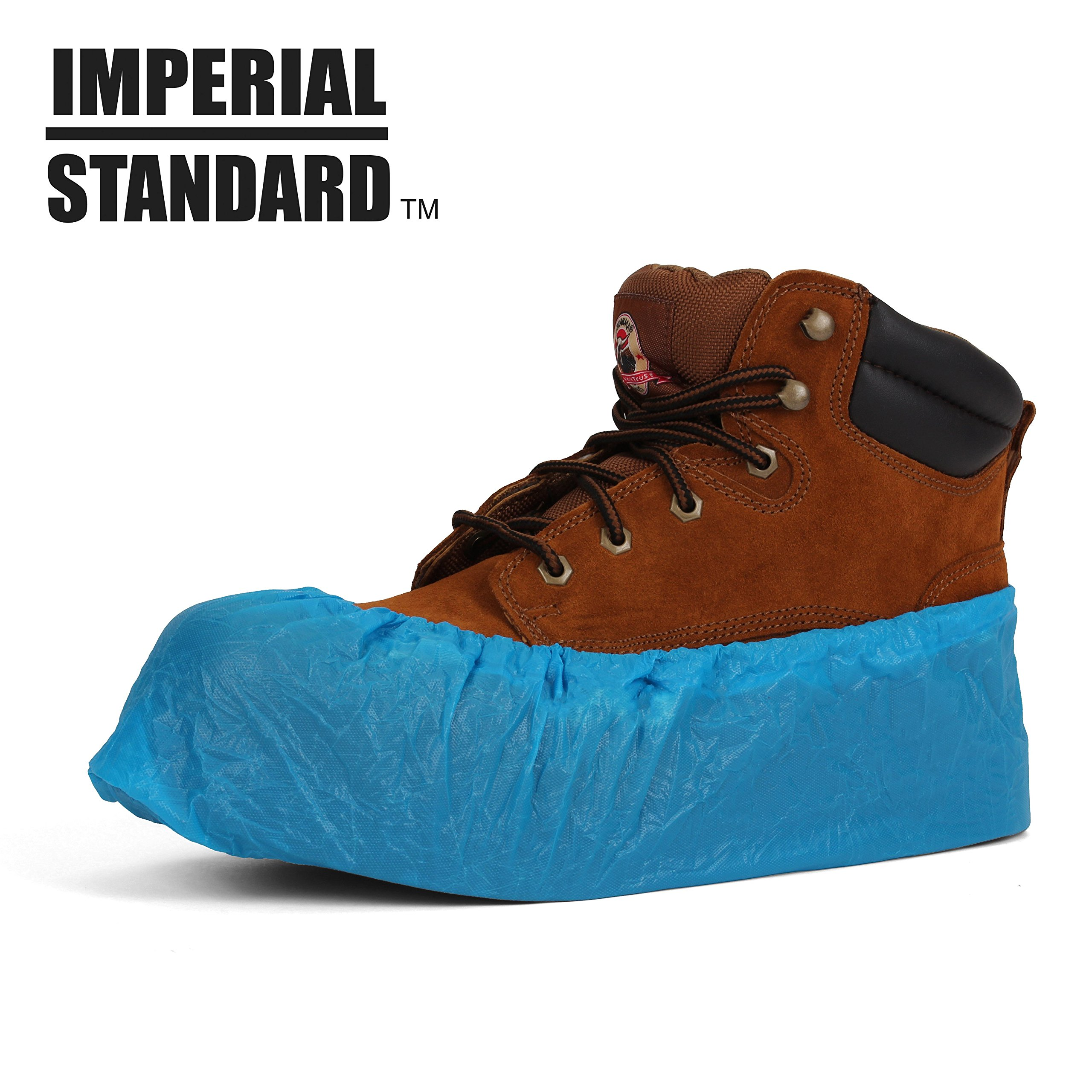 Waterproof Boot Covers for Professionals - XL Disposable Shoe Covers - Non-Slip Waterproof Shoe Protectors - Fits up to Size 13 Work Boot and Size 14 Shoe - (100 pack) by Imperial Standard (Image #2)