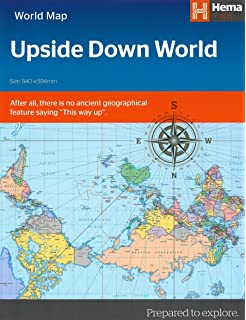 Upside down world map amazon hema 9781865002590 books world upside down in envelope hema gumiabroncs Image collections