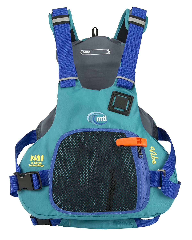 MTI Adventurewear Vibe PFDライフジャケット B01M98TMKF Large|ターコイズ ターコイズ Large