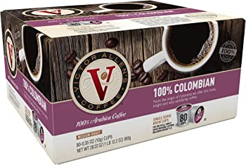80Pk. Victor Allen's 100% Colombian Single Serve K-cup