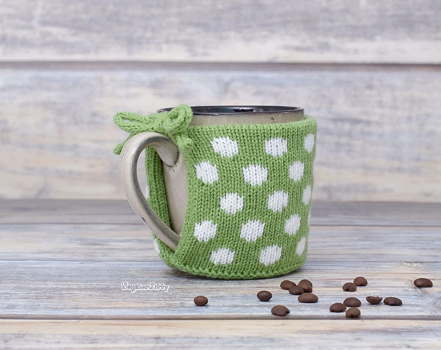 Green Palm Coffee Mug Cozy Knitted Sleeve Mug Sweater Tea Cup Cozy Housewarming Gift Cup Cover Tea Cosies Party Favor