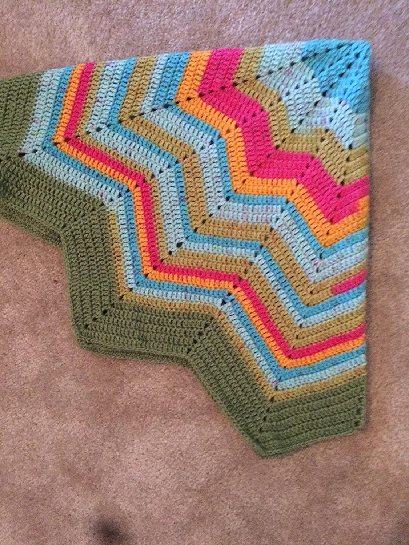 Amazon.com Rainbow Sherbet Ripple Star Baby Blanket   Green, Teal ...