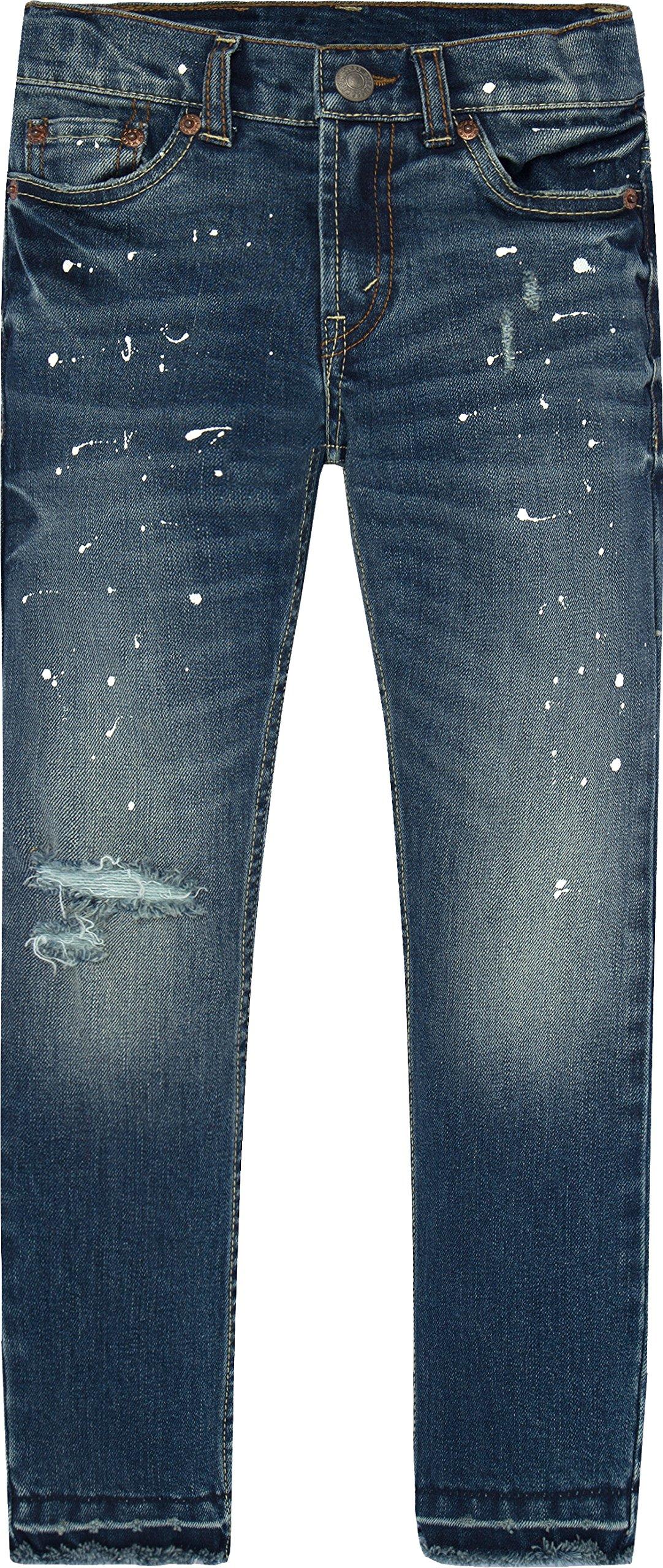 c071a9da Galleon - Levi's Boys' Big 511 Slim Fit Distressed Jeans, Catalina Island,  12