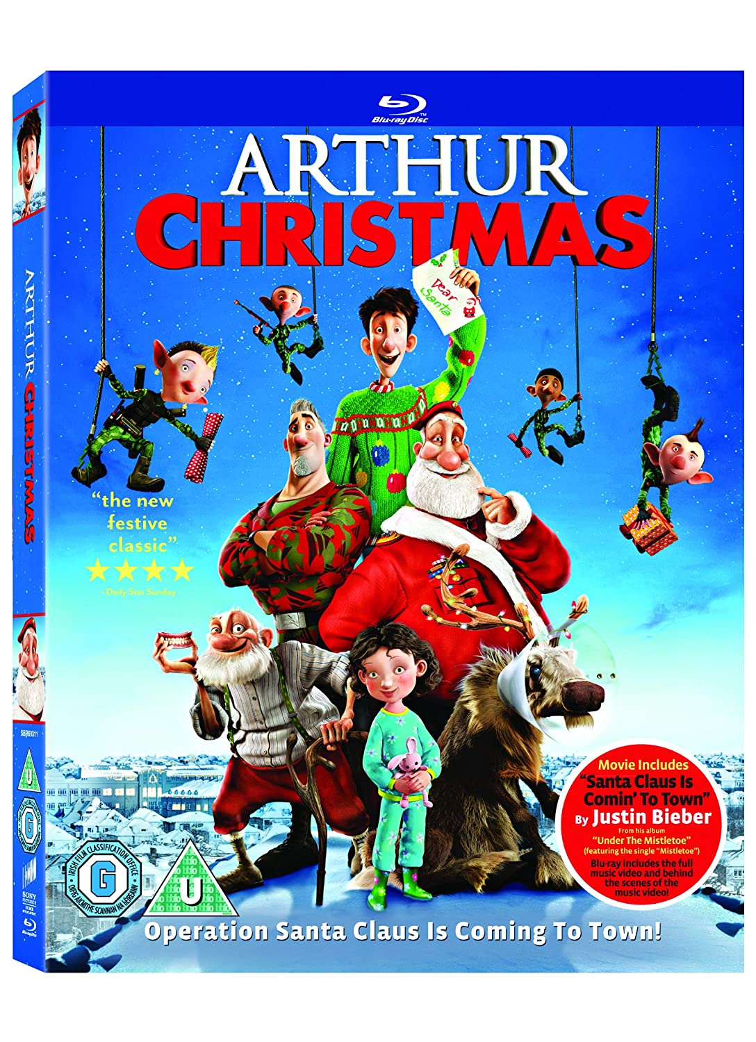 Amazon Com Arthur Christmas Blu Ray 2012 Region Free Movies Tv
