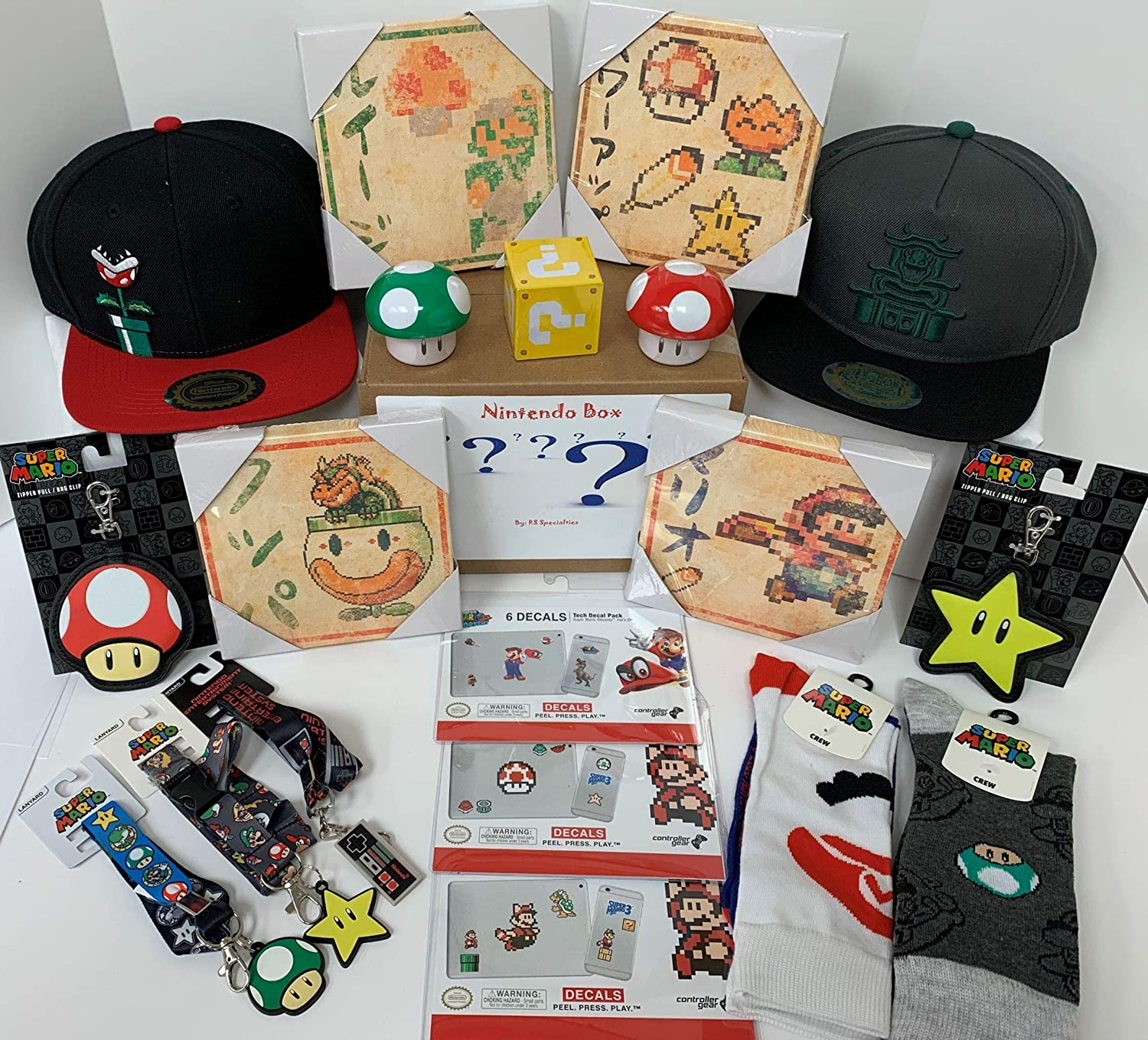 Retail Sales Solutions Nintendo Collector's Box of 7 Specialty Items Gift Bundle