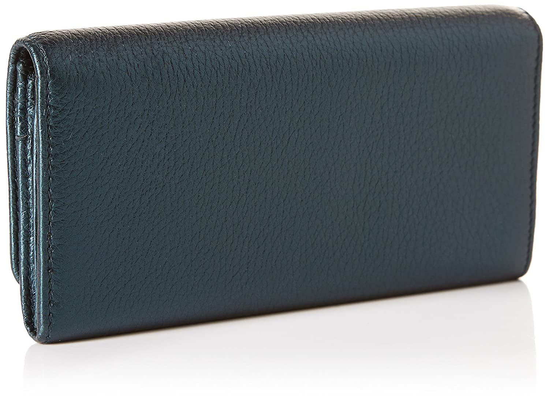 Bimba y Lola - cartera con solapa para mujer, color azul metalico: Amazon.es: Zapatos y complementos