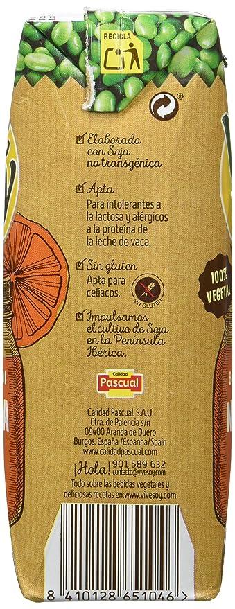 Vivesoy Zumo de Soja y Naranja - Paquete de 3 x 250 ml - Total: 750 ml - [Pack de 7]: Amazon.es: Alimentación y bebidas