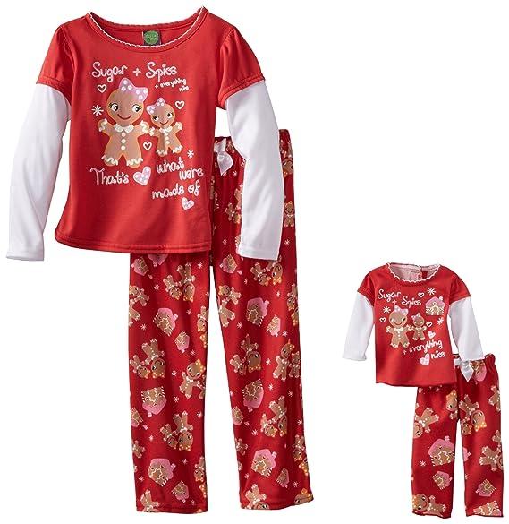 Amazon.com  Dollie   Me Little Girls  Gingerbread Print Pajama Set ... f1815fbb4