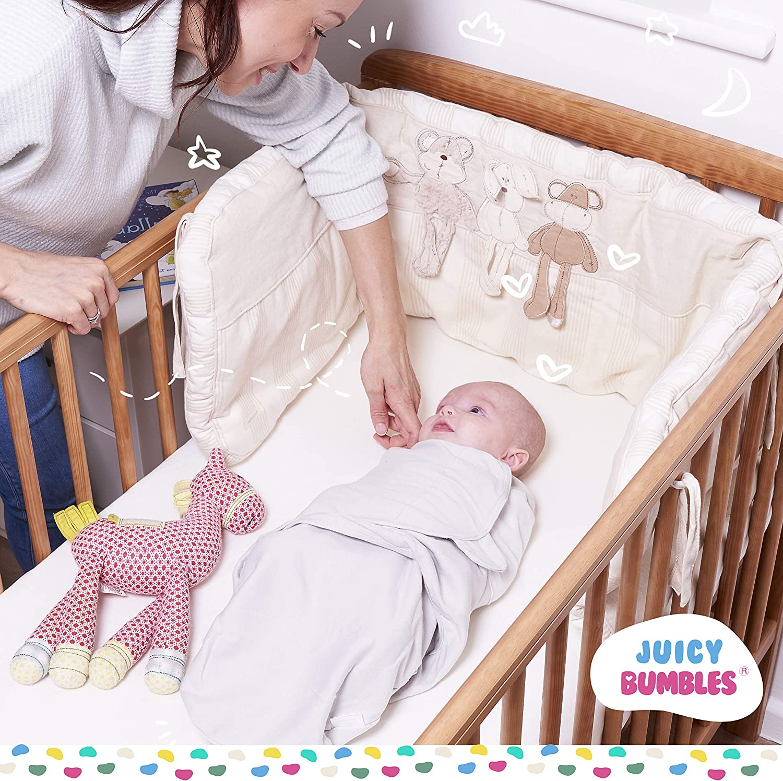 Gris 0-3 Meses Manta Envolvente para Beb/é y Recien Nacido 3x Saco de Dormir Manta de Arrullo Cobija 100/% Algod/ón 220GSM