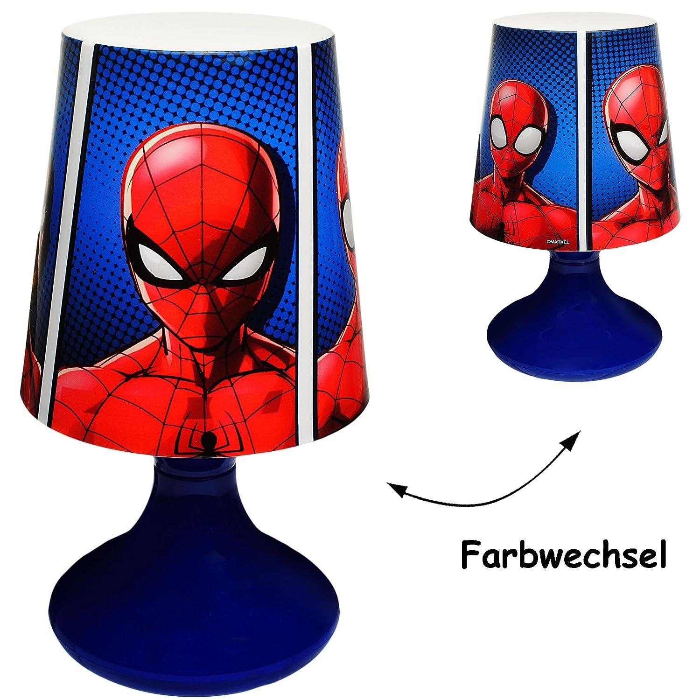 Name Batteriebetrieben SCHNURLOS /& Kabellos Ultimate Spider-Man inkl mit Farbwechsel 19 cm hoch alles-meine.de GmbH LED Tischlampe Tischleuchte f/ür Kinder // NA..