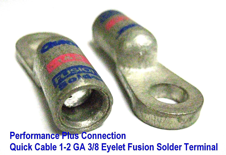 Quick Cable de la batería Terminal de cable Fusion flujo soldadura y precargadas 1 - 2 calibre 3/8 con ojales): Amazon.es: Coche y moto