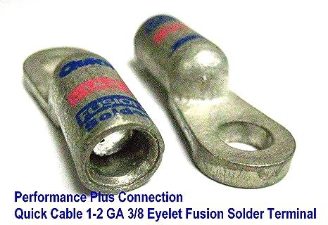 Quick Cable de la batería Terminal de cable Fusion flujo soldadura y precargadas 1 – 2