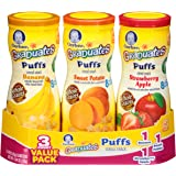 Gerber Graduates Puffs, Apple, Banana & Sweet Potato (3 Count, 1.48 Ounce Each)