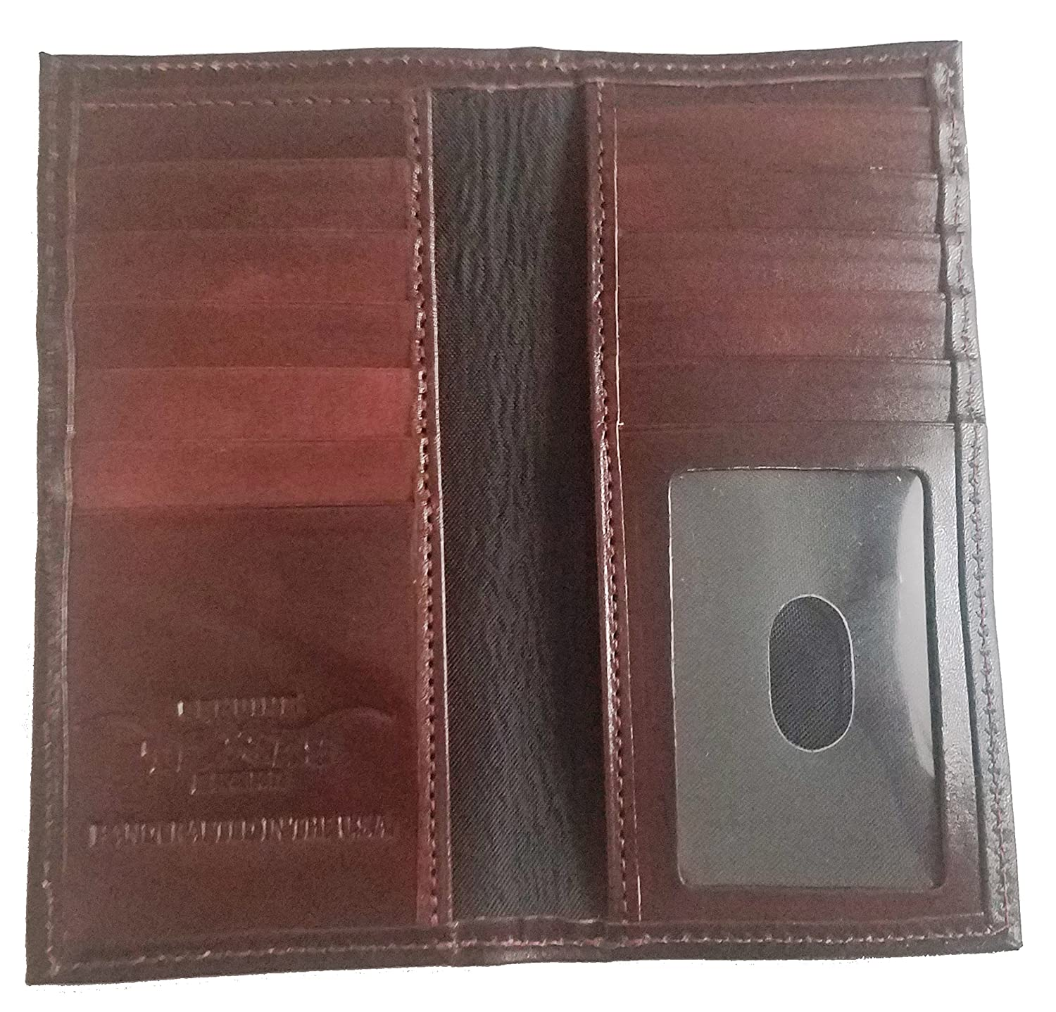 Proudly MADE IN THE USA Custom Black Cherry Morgan Dollar Tails Basket Weave Long Leather Checkbook Wallet