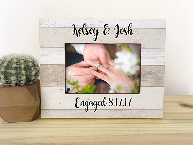 personalized engagement frame engagement party gift frame gift for fiance couples frame proposal frame - Engagement Photo Frame
