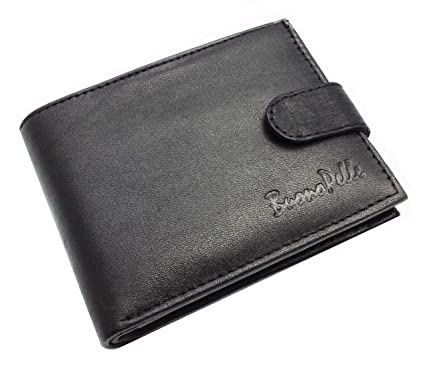 <b>Designer</b> BUONO PELLE <b>Real Leather Mens</b> Wallet Credit Carder ...