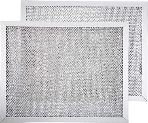 Amazon Com 2 Packs Aluminum Range Hood Grease Filter Range Hood Vent Filter Compatible With Broan F40000 41000 42000 K Nutone Rl6100f R Sl6200 H Rl6300 H Rl6100 H 8 3 4 X 10 1 2 X 3 32 Inch Appliances