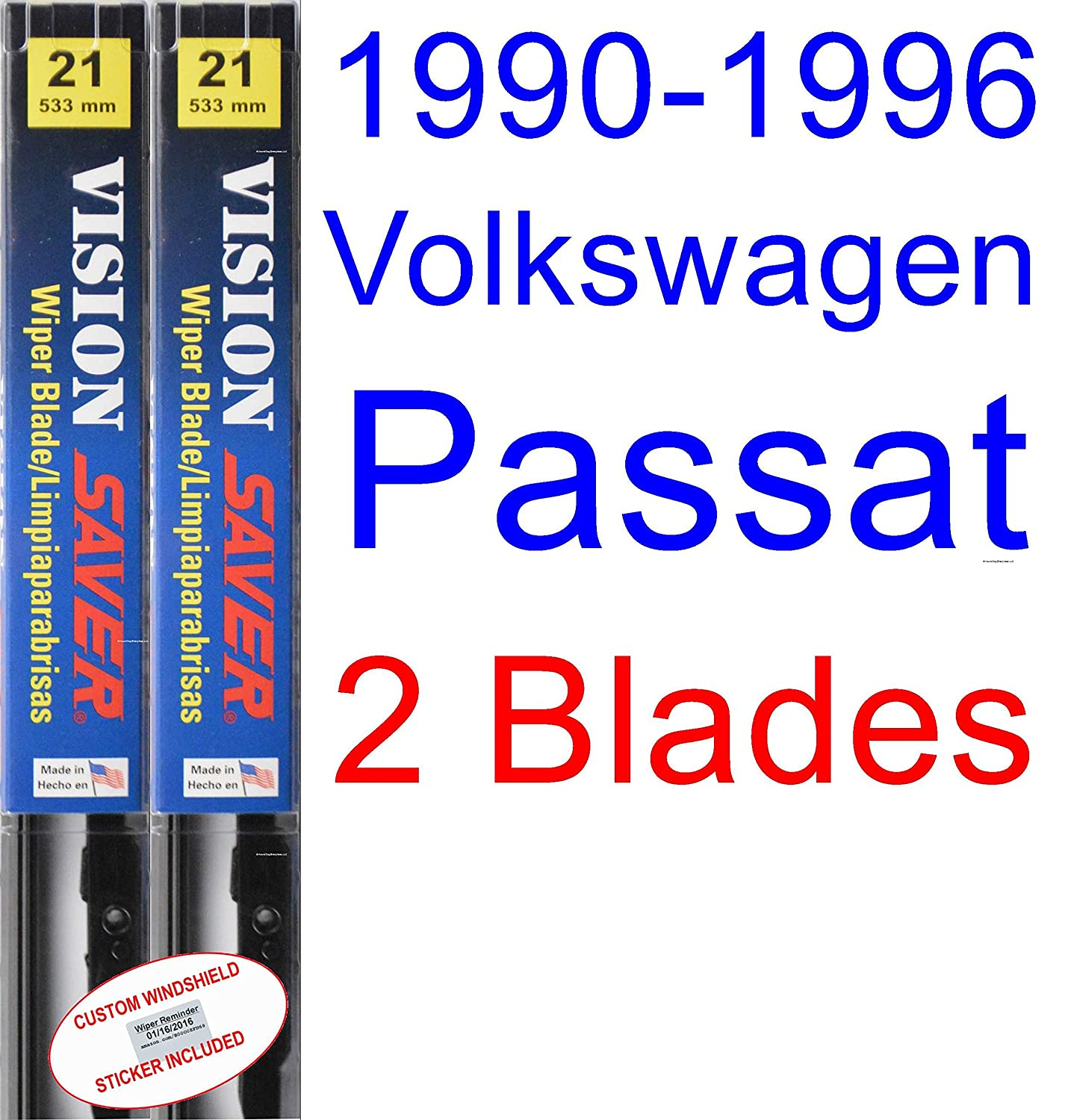 Amazon.com: 1990-1996 Volkswagen Passat Replacement Wiper Blade Set ...
