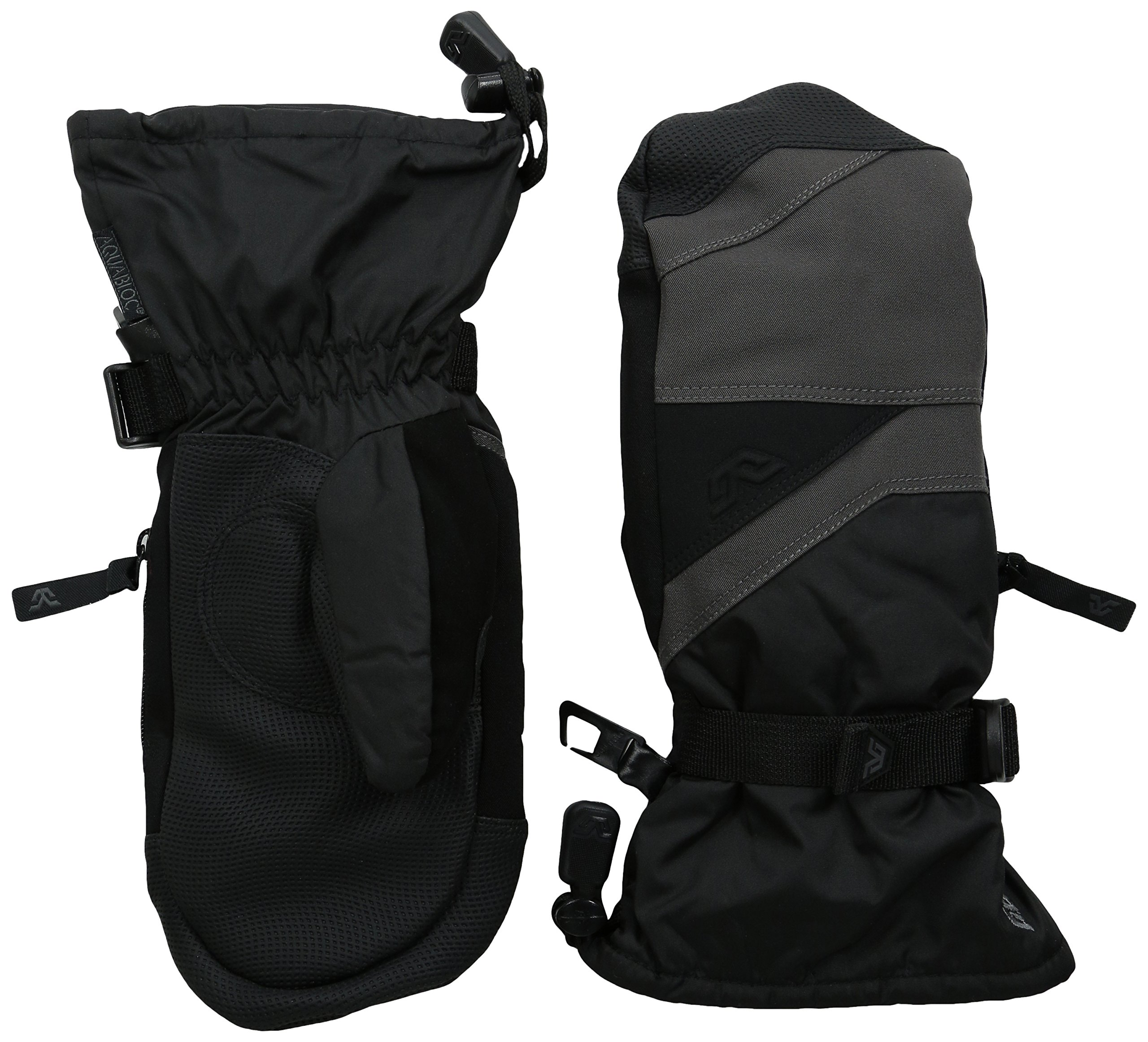 Gordini Little Kids Junior's Stomp Iii Waterproof Insulated Mittens, Gun Metal Black, X-Small