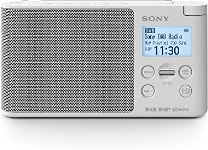 Sony XDR S41D Radio Portable Digitale DAB DAB+ FM RDS Blanc