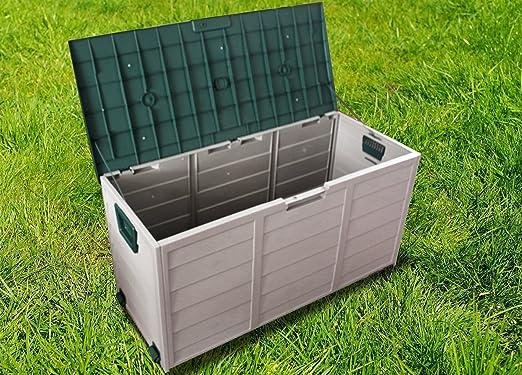 Lord of El Césped – Caja de almacenaje para Jardín. Alacena Pecho Caja de almacenamiento plástico exterior: Amazon.es: Jardín
