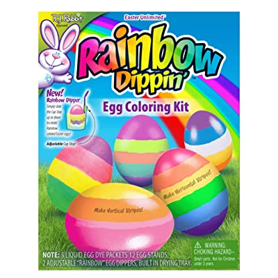 "Fun World Rainbow Eggs Easter Supply Deco 20pc 9"" Egg Decorating Kit: Health & Personal Care"
