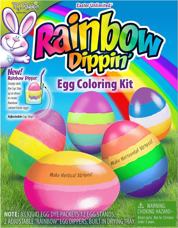 Rainbow Dippin Egg Coloring Kit Portraits