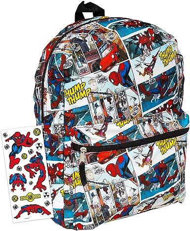 "Spiderman Cartoon Black Backpack School All Print Book Bag Backpack 16/"" for Kids"