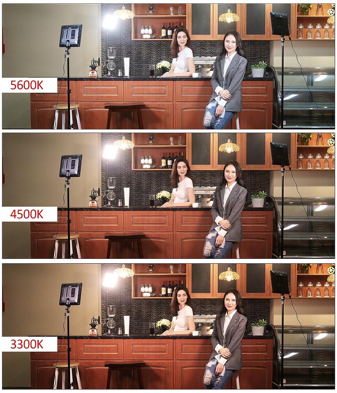CRI95 VILTROX/® VL-200B LED Panel de luz de Video Regulable para DSLR C/ámara DV Videoc/ámara con Control Remoto 30W 5600K