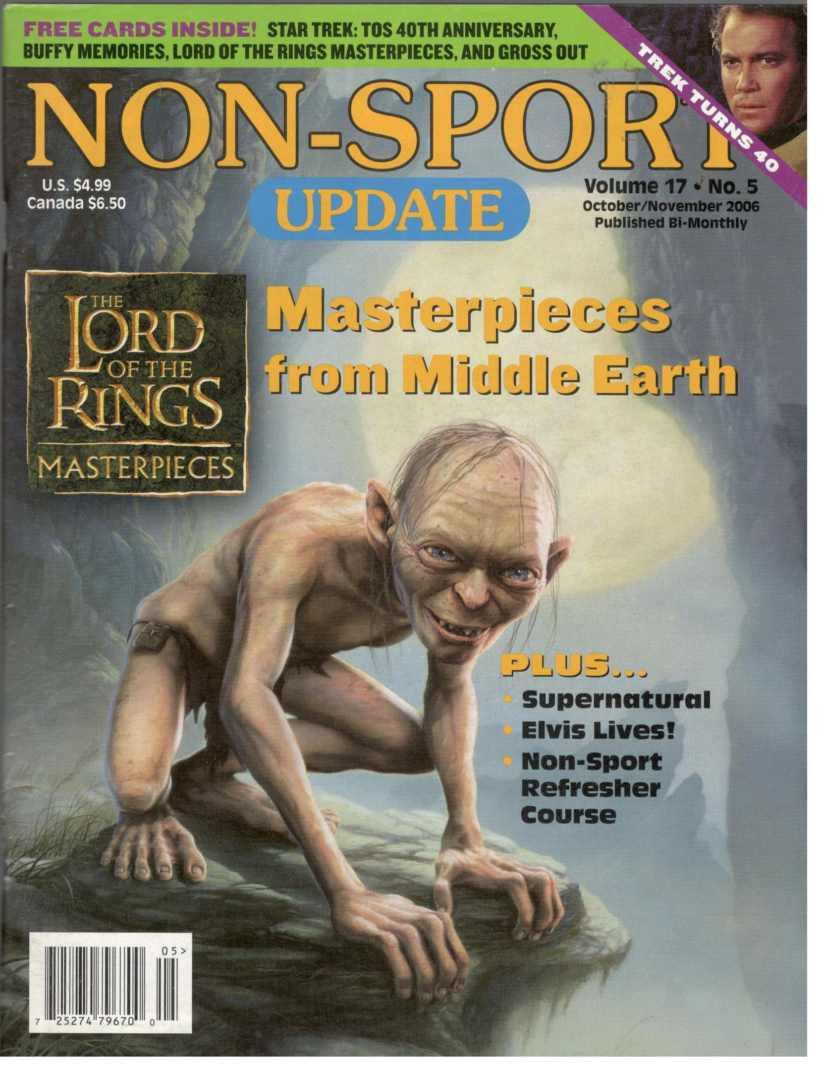 Non Sport Update Magazine (October/November 2006,Lord of the Rings) PDF