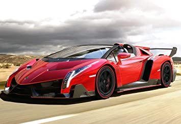 Amazon.com: Lamborghini Veneno Roadster Poster 13x19