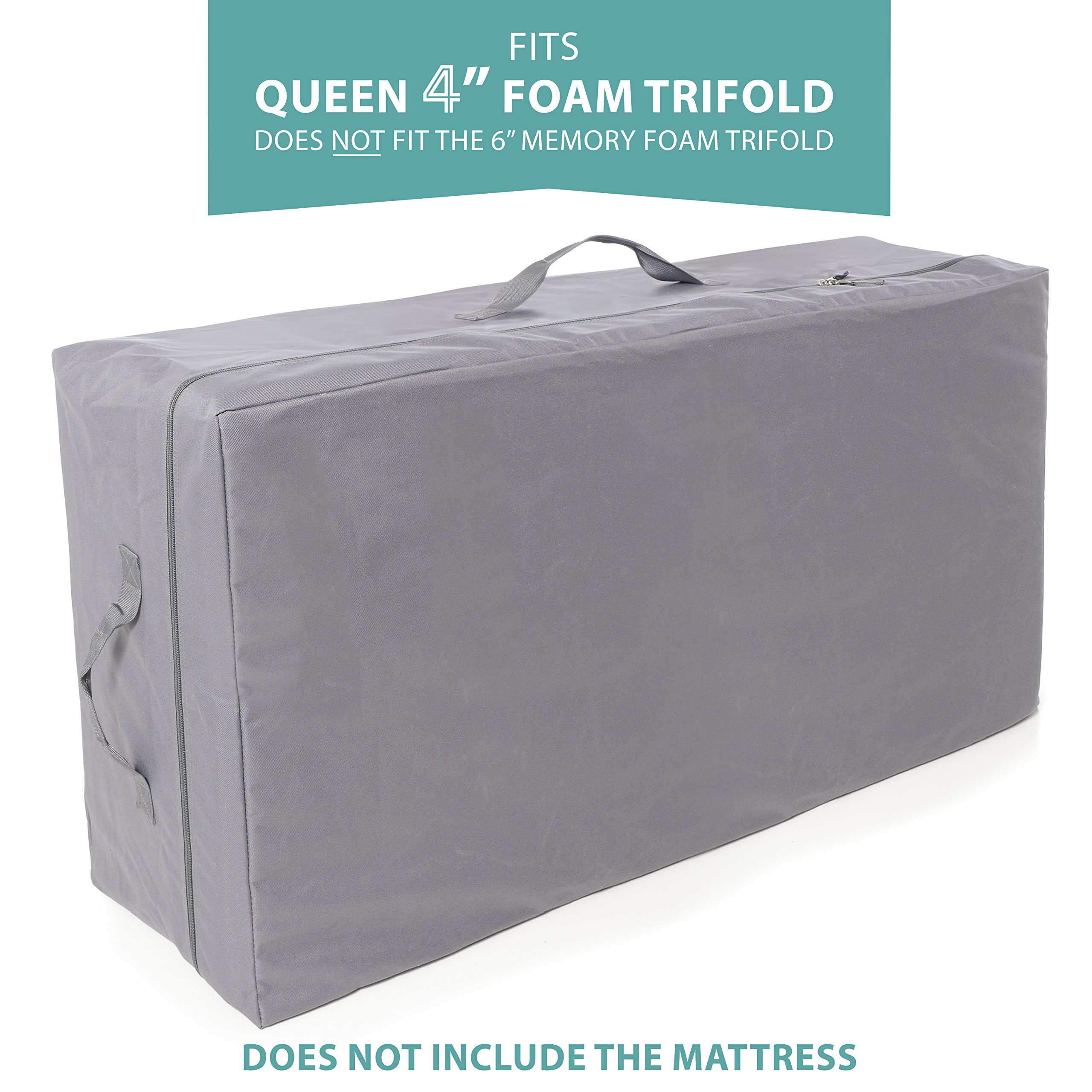 Carry Case for Milliard Tri-Fold Mattress 4 inch Queen (Does Not Fit 6 inch) by Milliard