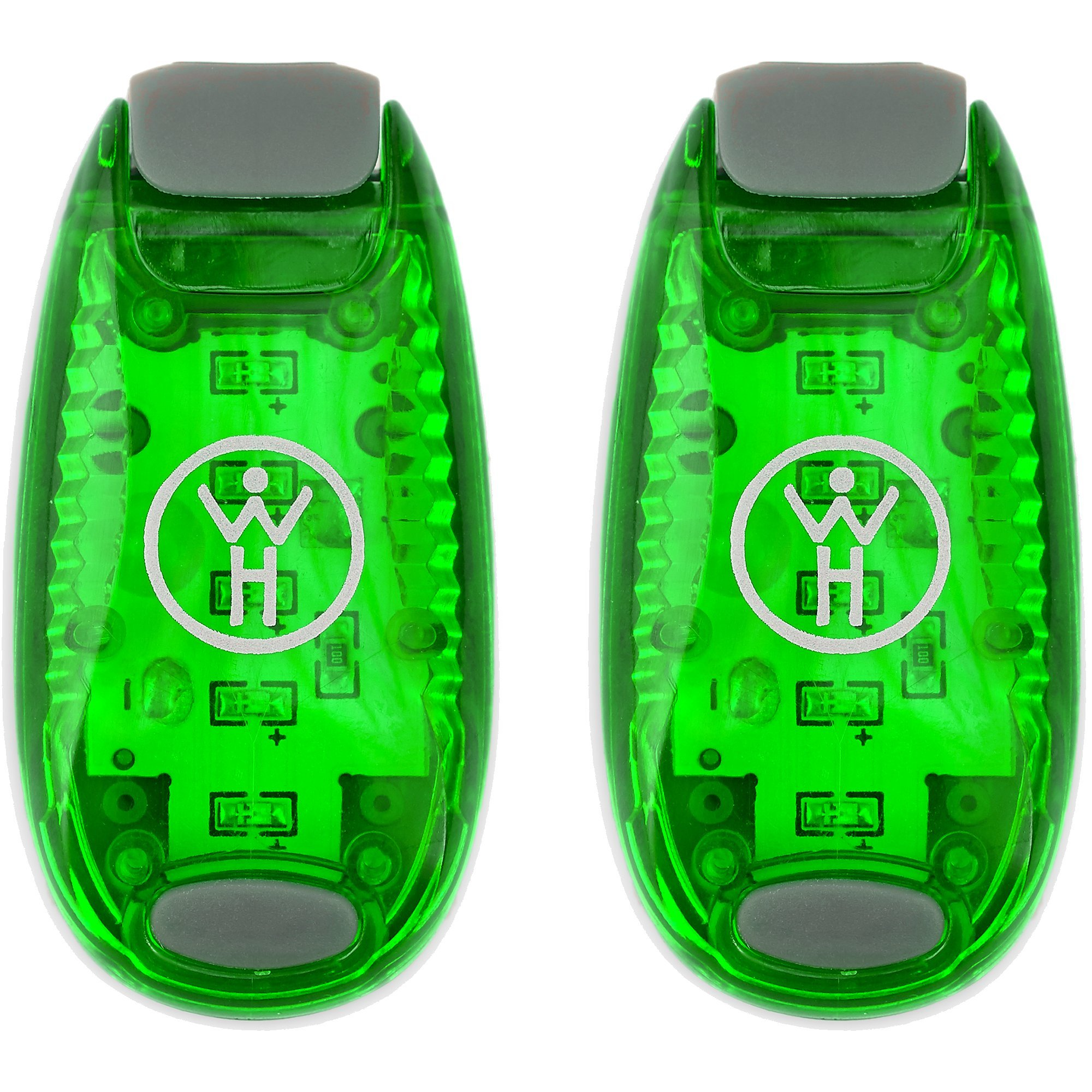 Whole Human LED Safety Lights (2 Pack) - Green by Whole Human