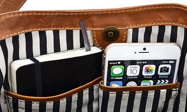af5370dc78673 Gusti Leder studio Rachel Ledertasche Henkeltasche Damenhandtasche Freizeittasche  Damentasche Handtasche Frauentasche Büffelleder Braun Cognac 2M17-26-5  ...