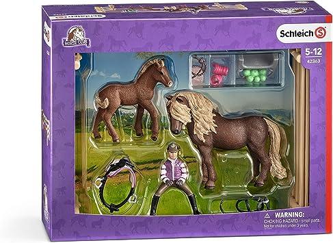 Schleich 42363 Reiterin Mit Island Ponys Figur Amazon De Spielzeug