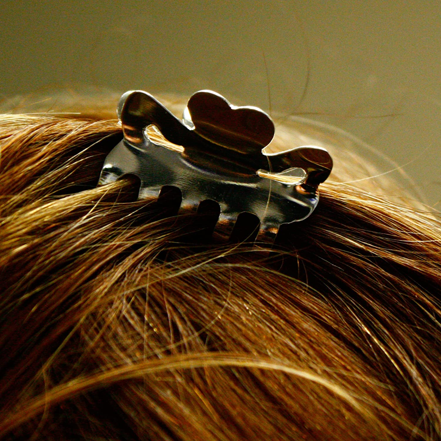 STERLING SILVER MINI HAIR CLAW CLIP .925 NEW ARRIVAL