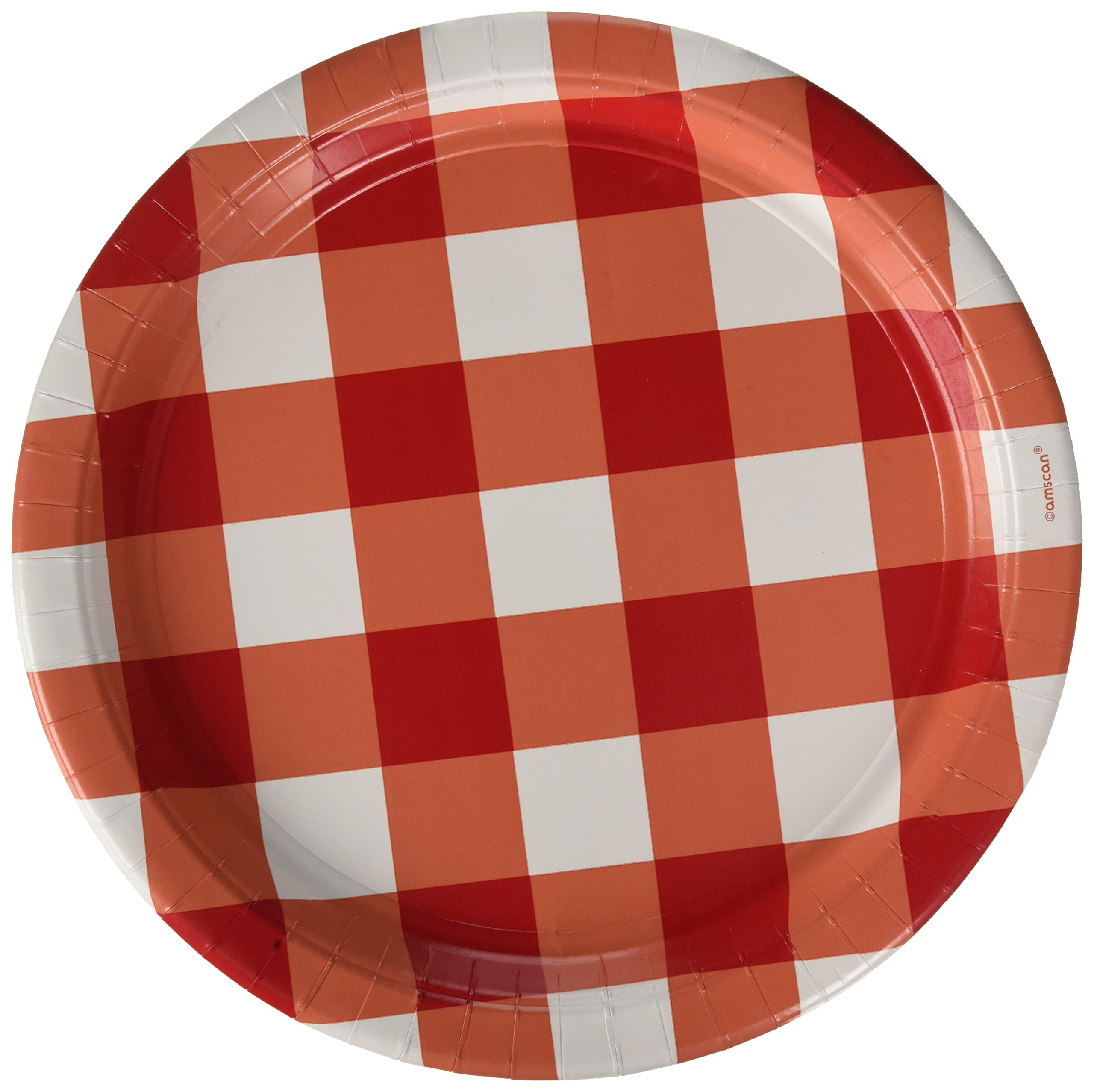 Amscan American Summer Party Gingham Plates | 12 Ct.