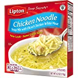 Lipton Soup Secrets Instant Soup Mix, Chicken Noodle 4.2 oz (Pack of 12, 2 Pouches Each)
