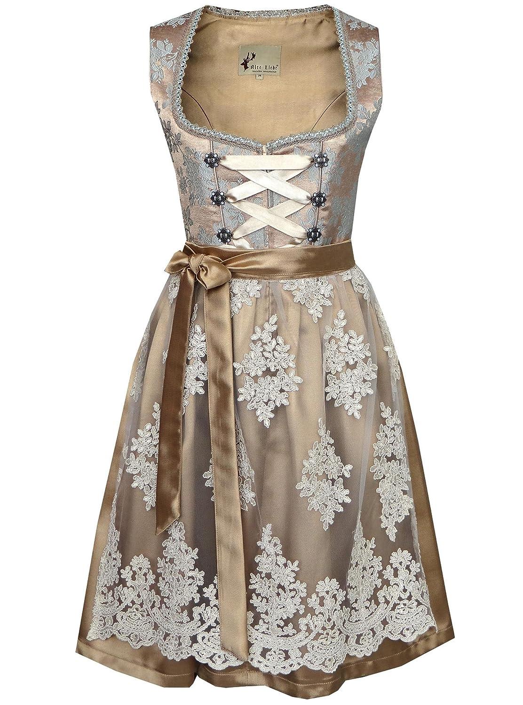 Exclusive Authentic Bavarian Trachten Dirndl Dress 2-Pieces with Apron size 4,6,8,10,12,14,12W,14W 2pcs Damen Dirndl A330/38