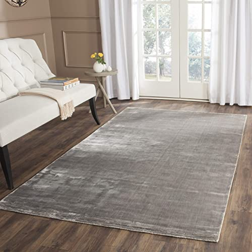 Safavieh Mirage Collection MIR344R Hand-Knotted Steel Wool Area Rug 5 x 8