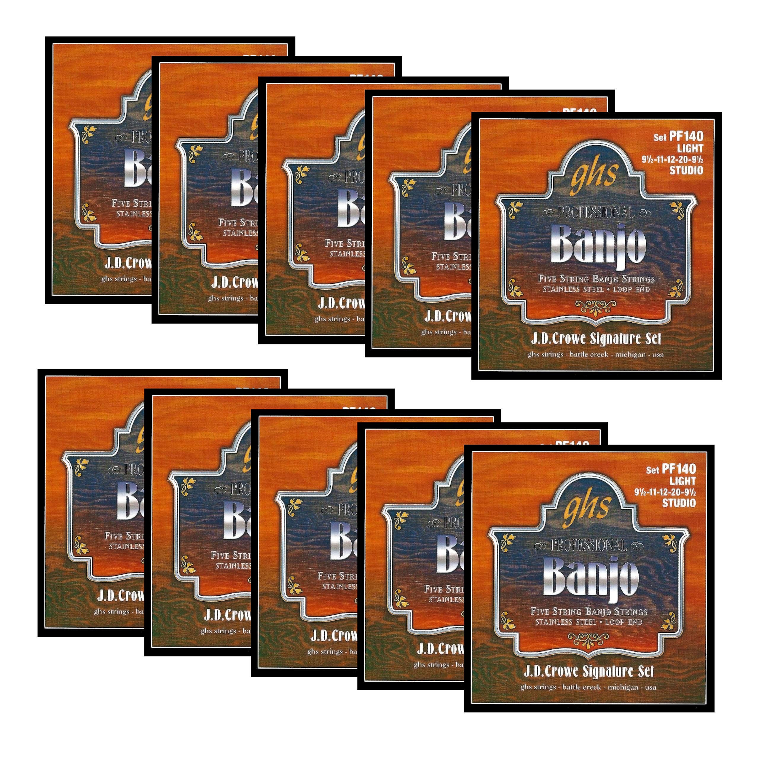 GHS Strings BANJO STRINGS (PF140-10 SET)