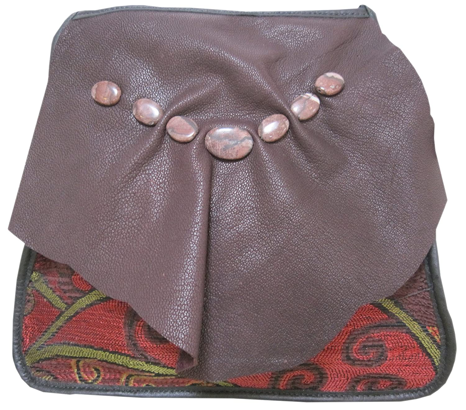"""""""Riata"""" Artisan Crafted Fabric and Leather Shoulder Bag - Made in the USA"""