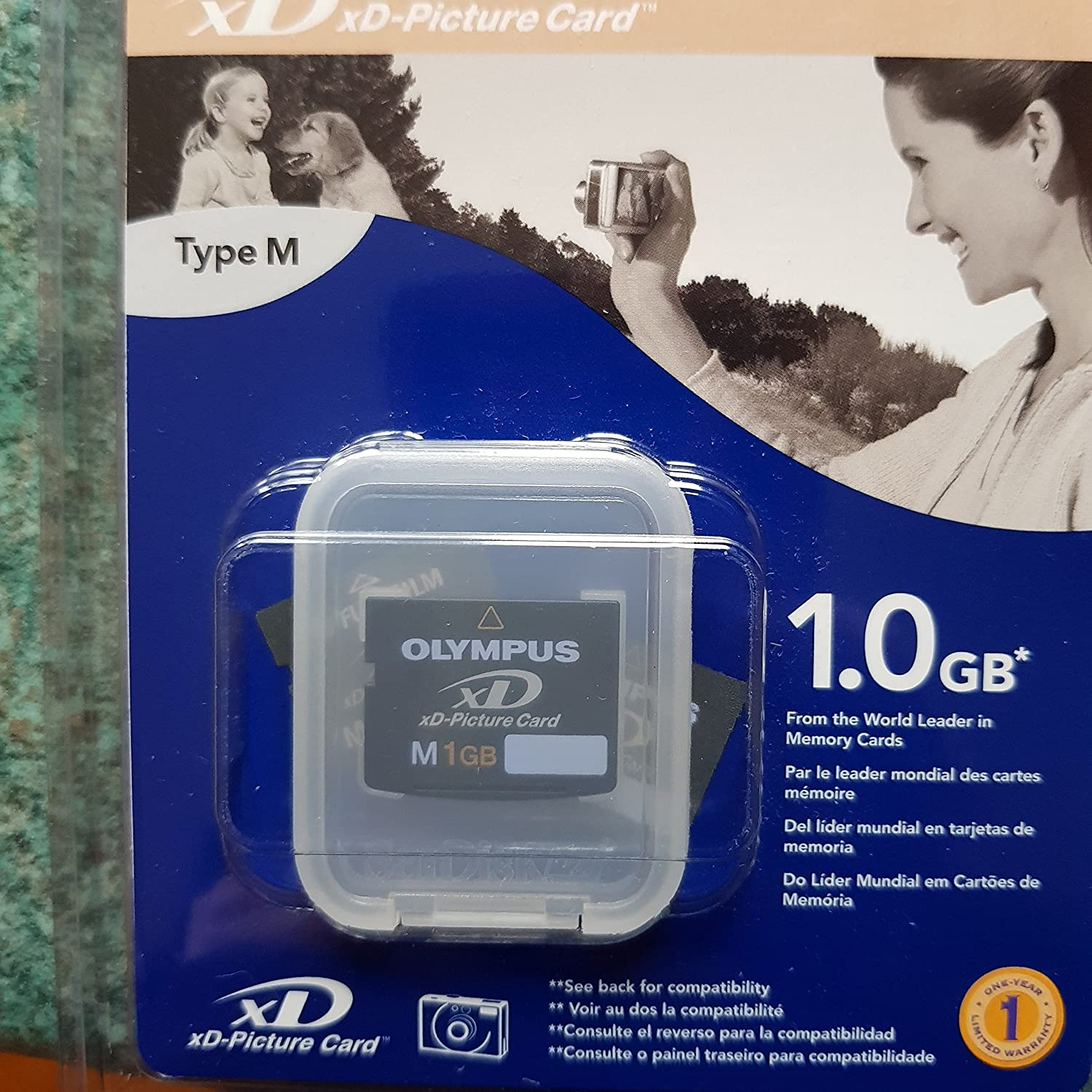 Olympus 1GB xD Card Type M Memoria Flash - Tarjeta de Memoria (1 GB, xD, 5 MB/s, 3 MB/s)
