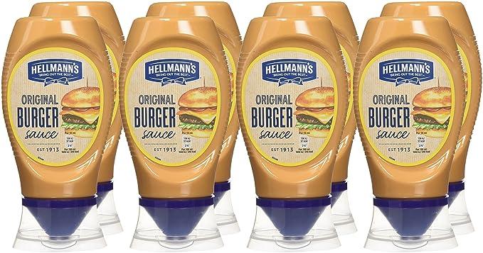 Hellmanns Salsa Burger 250 ml - Paquete de 8 x 250ml - Total: 2000ml: Amazon.es: Alimentación y bebidas