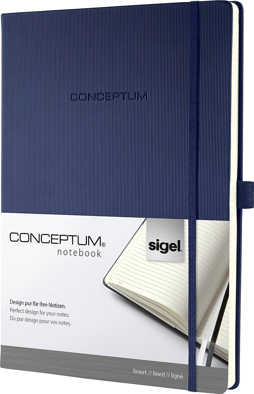 Sigel CO643 Taccuino CONCEPTUM, copertina rigida, 194 pagine a righe, circa A4, grigio chiaro